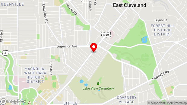 Google Map of 13240 Euclid Ave, East Cleveland, OH 44112