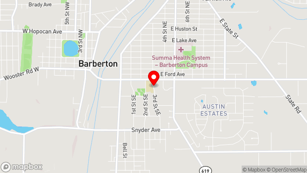 Google Map of 33 3rd St SE, Barberton, OH 44203