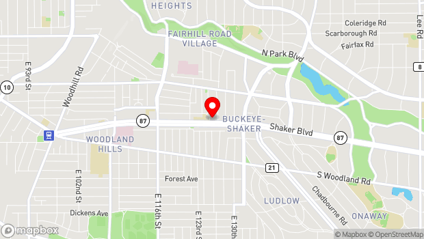 Google Map of 12601 Shaker Blvd., Cleveland, OH 44120