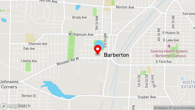 Google Map of 584 W Tuscarawas Ave, Barberton, OH 44203