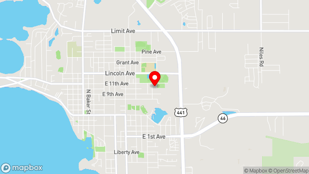 Google Map of 1100 North Unser Street, Mount Dora, FL 32757