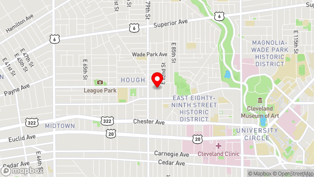 Google Map of 1695 East 81st. Street, Cleveland, OH 44103