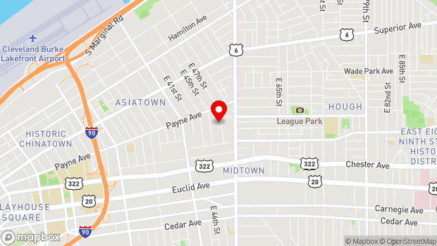 Google Map of 1754 E 47th St, Cleveland, OH 44103