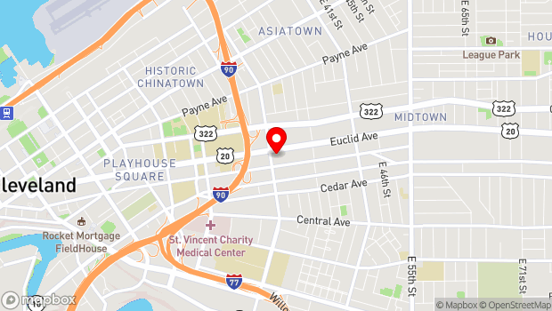 Google Map of 3030 Euclid Ave - Suite 100, Cleveland, OH 44115