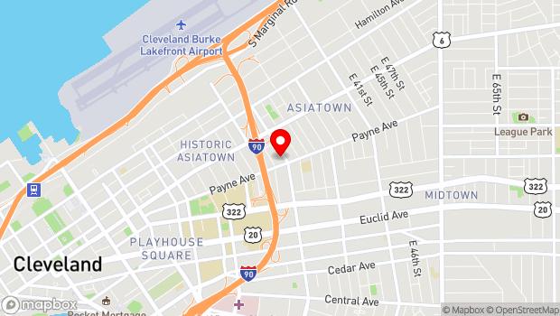 Google Map of 2999 Payne Avenue, Cleveland, OH 44114