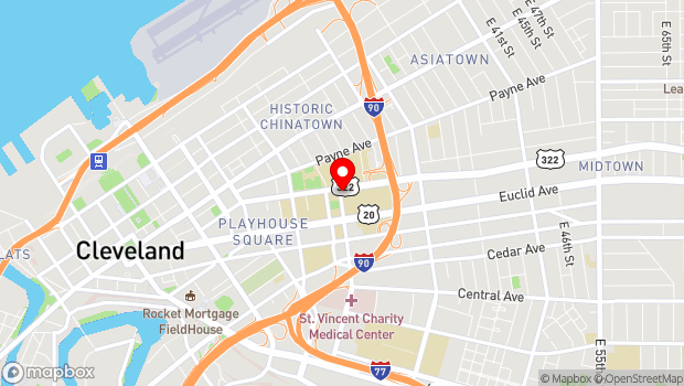 Google Map of 1899 East 22nd Street, Cleveland, OH 44115