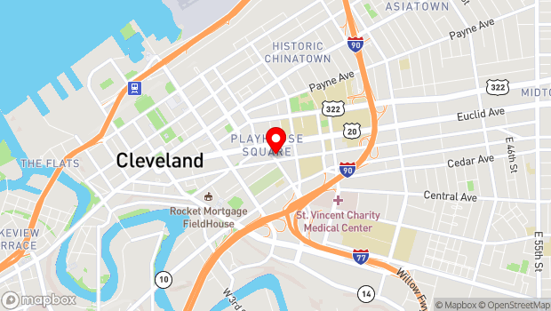 Google Map of 2067 E. 14th Street, Cleveland, OH 44115