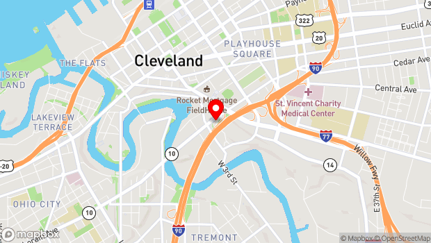 Google Map of 310 Carnegie Ave, Cleveland, OH 44115