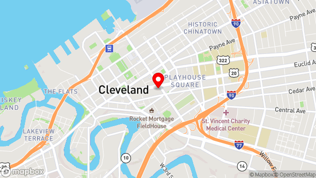 Google Map of 850 Euclid Avenue, Cleveland, OH 44114