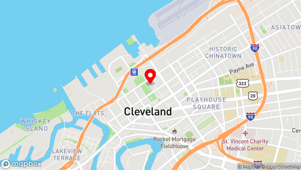 Google Map of 500 Lakeside Ave E, Cleveland, OH 44114