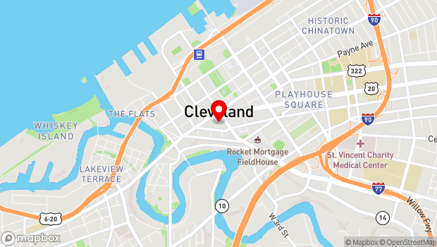 Google Map of 50 Public Square, Cleveland, OH 44113