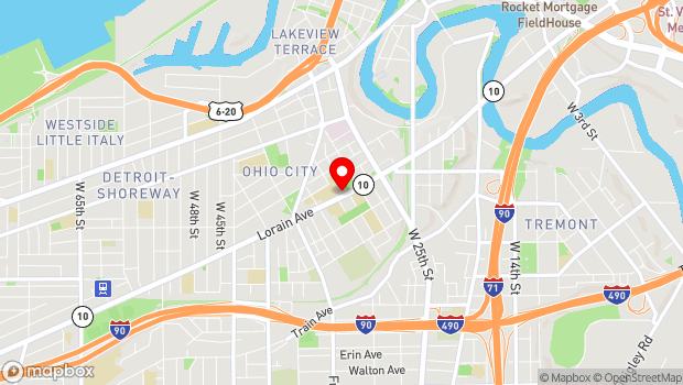 Google Map of 1911 West 30th Street, Cleveland, OH 44113