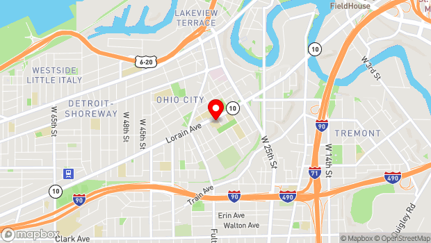 Google Map of 2008 West 30th Street, Cleveland, OH 44113