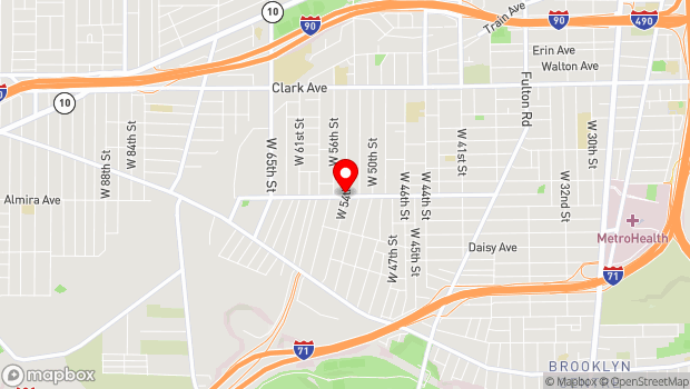 Google Map of 5404 Storer Avenue, Cleveland, OH 44102