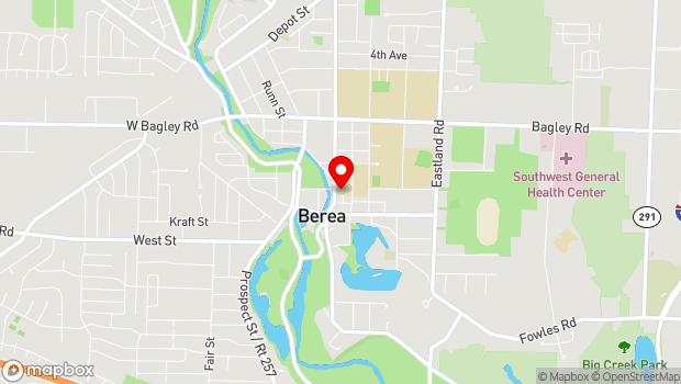 Google Map of 96 Front Street, Berea, OH 44017