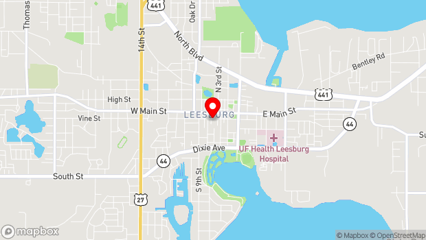 Google Map of 429 West Magnolia Street, Leesburg, FL 34749