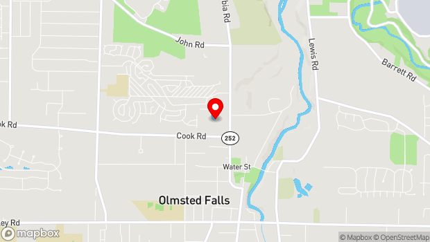 Google Map of 7370 Columbia Road, Olmsted Township, OH 44070