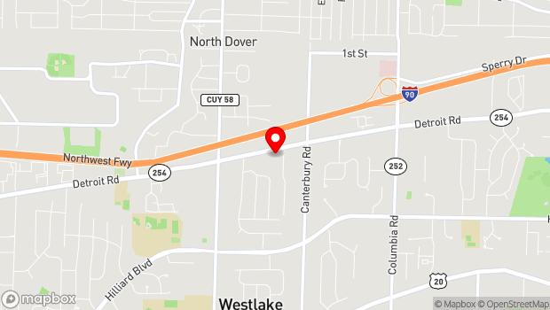 Google Map of 26633 Detroit Road, Westlake, OH 44145