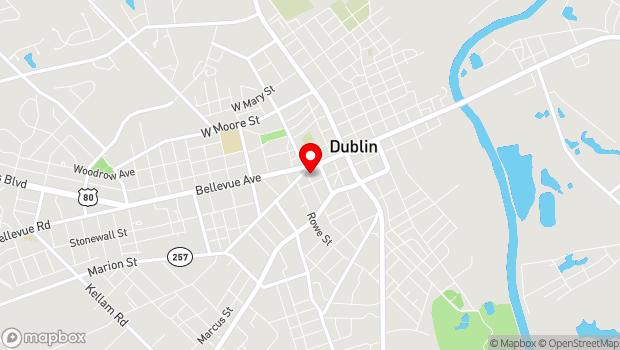 Google Map of 316 Academy Ave, Dublin, GA 31021