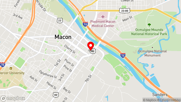 Google Map of 340 Walnut St., Macon, GA 31201