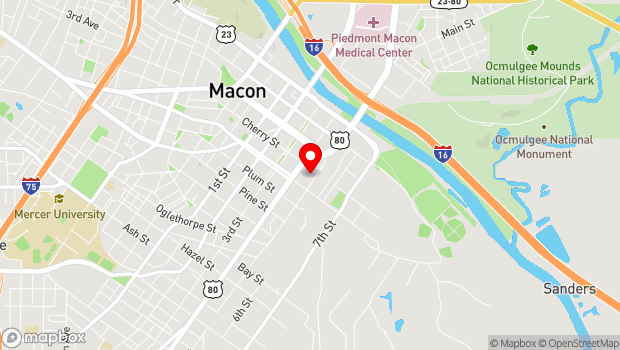 Google Map of 310 Cherry St., Macon, GA 31201