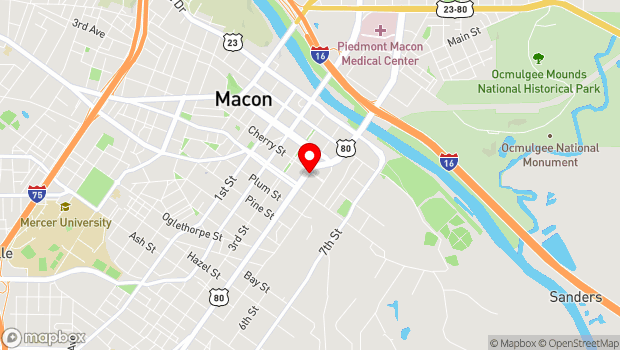 Google Map of 382 Cherry Street, Macon, GA 31201