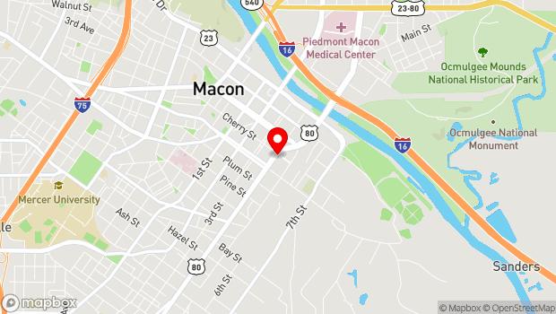 Google Map of 382 Cherry St, Macon, GA 31201