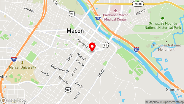 Google Map of 430 Cherry Street, Macon, GA 31201