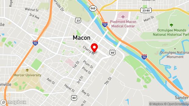 Google Map of 557 Cherry St., Suite B, Macon, GA 31201