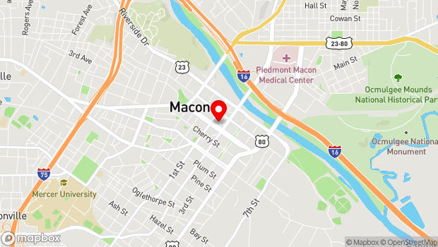 Google Map of 651 Mulberry Street, Macon, GA 31201