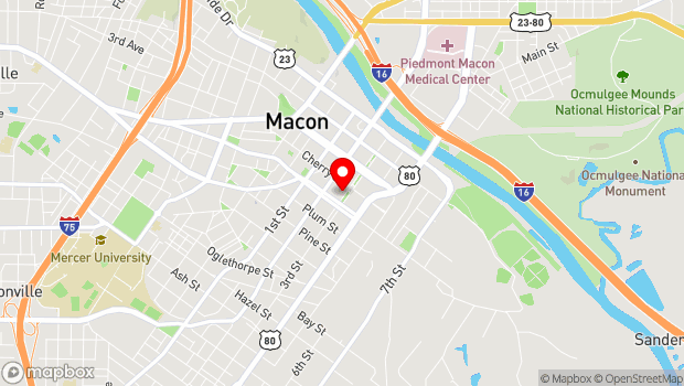 Google Map of 447 Third Street, Macon, Georgia 31201