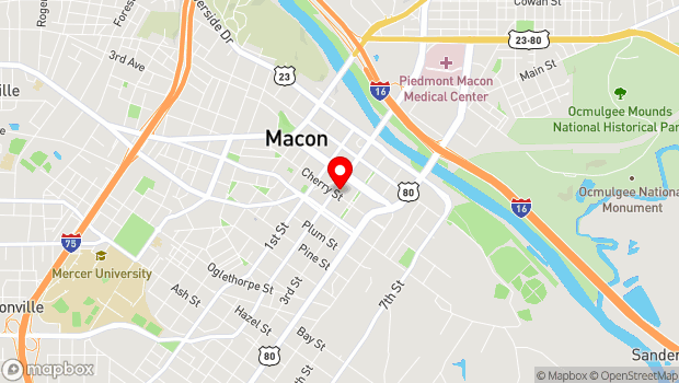 Google Map of 382 Second St., Macon, GA 31201