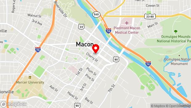 Google Map of 652 Mulberry Street, Macon, GA 31201