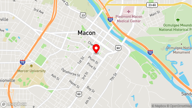 Google Map of 555 Poplar Street, Macon, GA 31201