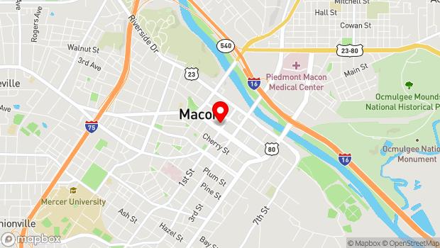 Google Map of 719 Mulberry Street, Macon, GA 31201
