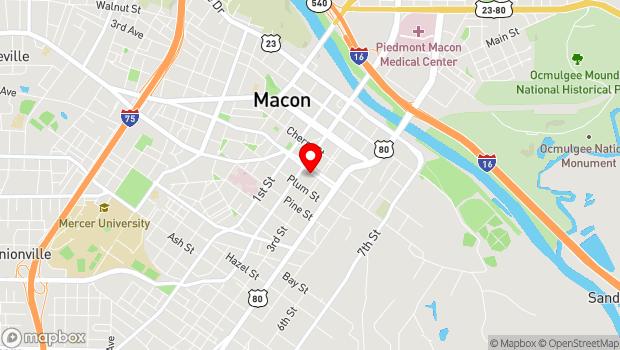 Google Map of 546 Poplar Street, Macon, Georgia 31201