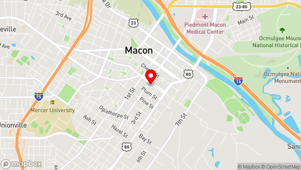 Google Map of 576 Poplar St., Macon, GA 31201