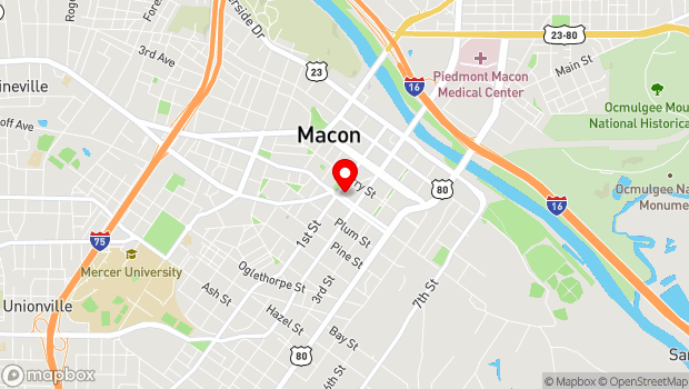 Google Map of 486 First Street, Macon, GA 31201