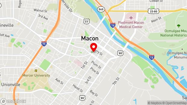 Google Map of 456 1st Street, Macon, GA 31201