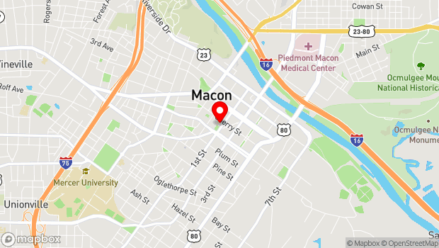Google Map of 415 First Street, Macon, GA 31201