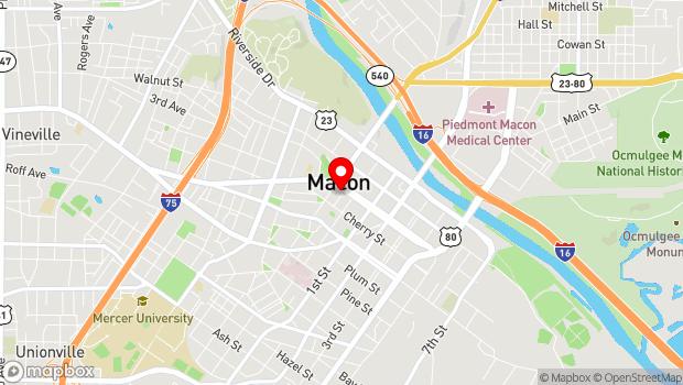 Google Map of 856 Mulberry St., Macon, GA 31201