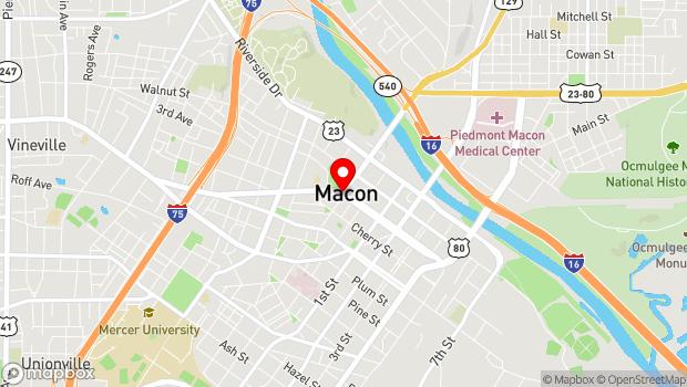 Google Map of 285 Spring Street, Macon, GA 31201