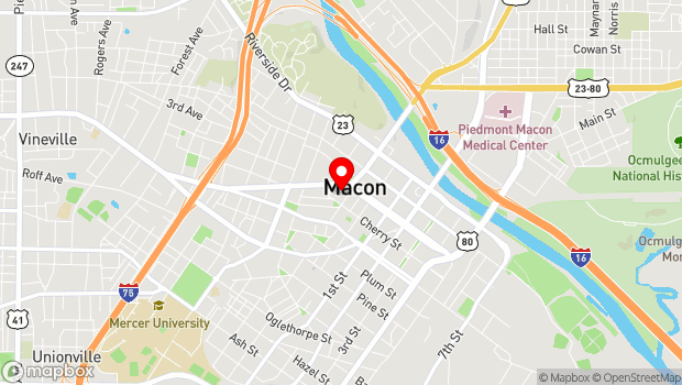 Google Map of 934 Georgia Ave., Macon, GA 31201