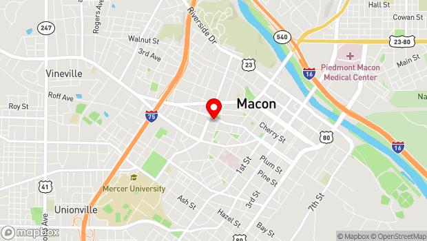 Google Map of 1180 Washington Ave., Macon, GA 31201