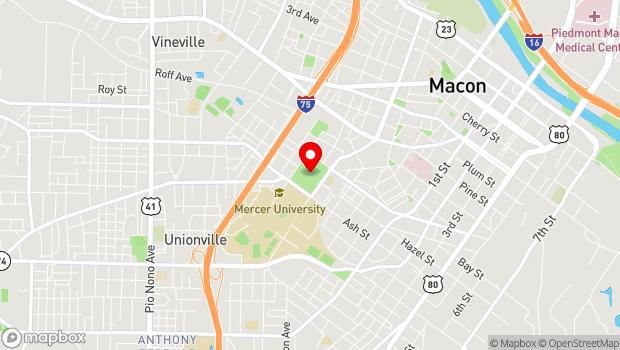 Google Map of College St. and Oglethorpe St, Macon, GA 31207