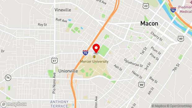 Google Map of 1329 Adams Street, Macon, GA 31207