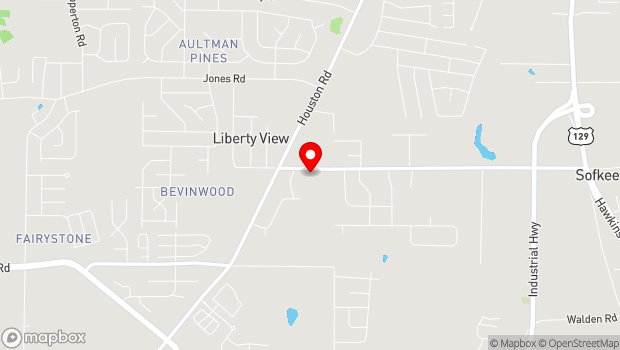 Google Map of 1055 Riverside Dr, Macon, GA 31201