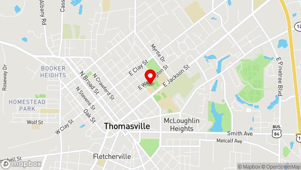 Google Map of 600 East Washington Street, Thomasville, GA 31792