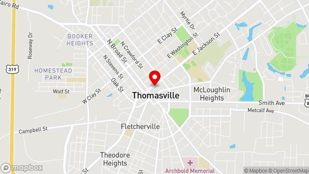 Google Map of 144 E. Jackson St., Thomasville, GA 31792