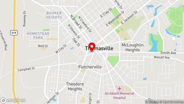 Google Map of 209 W. Remington Ave., Thomasville, GA 31792